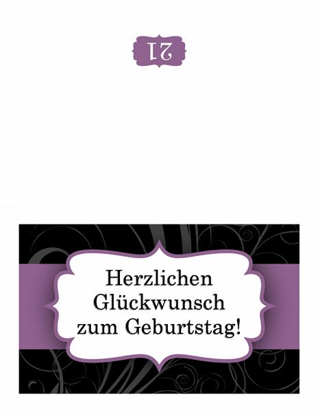 "Geburtstagskarte (im Design ""Lilafarbenes Band"")"