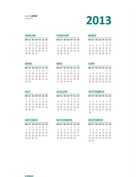 Kalender für 2013