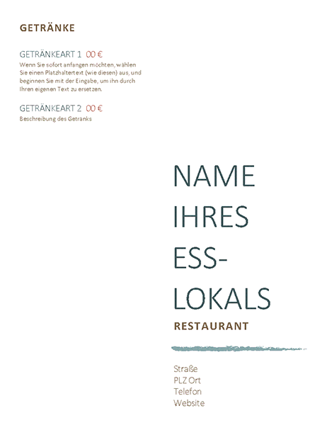 speisekarte erntedankdesign office templates