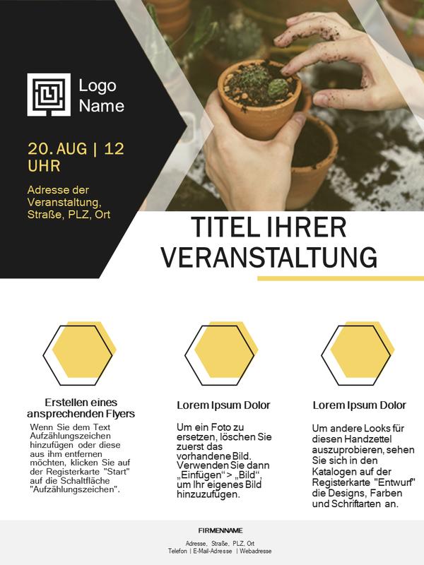 Flyer für Kleinunternehmen (goldenes Design)