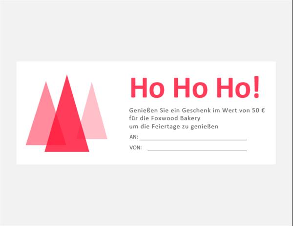 Weihnachtsgeschenkgutscheine (10 pro Seite)