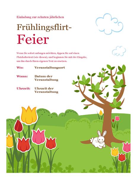 """Handzettel """"Frühling"""""""