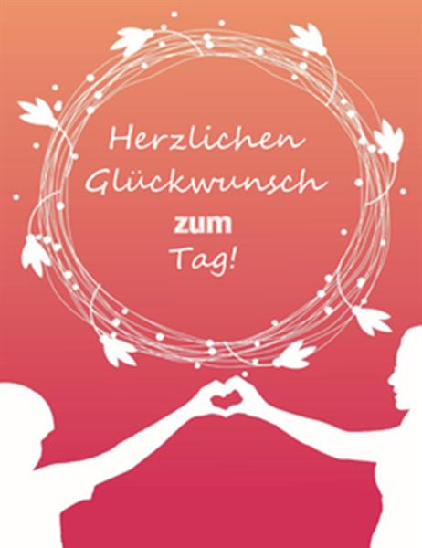 Muttertagskarte (mit Mohn, vierfach gefaltet)
