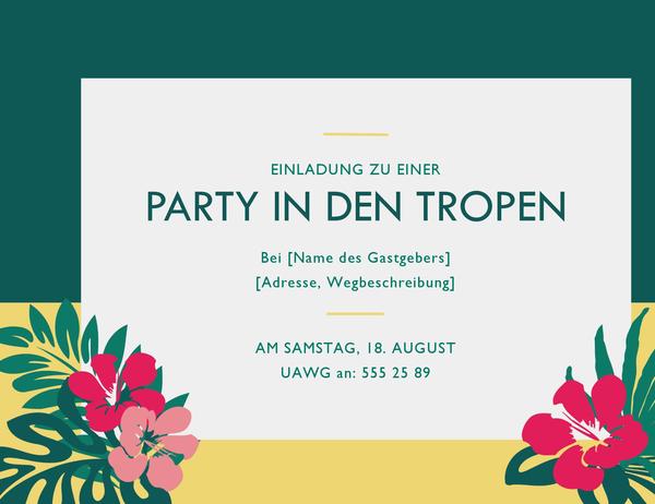 Partyeinladung (tropisch)