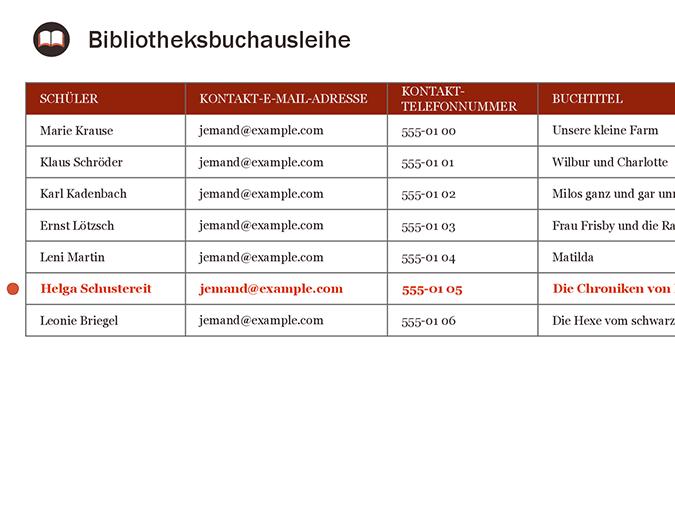 Bibliotheksbuchausleihe
