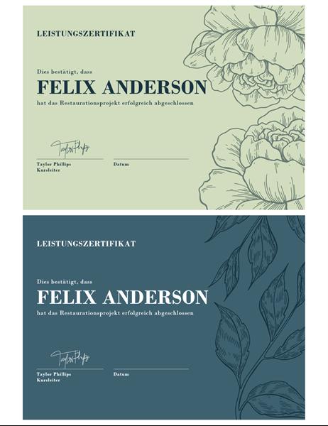 Atemberaubend Word Zertifikat Vorlagen Zeitgenössisch - Bilder für ...