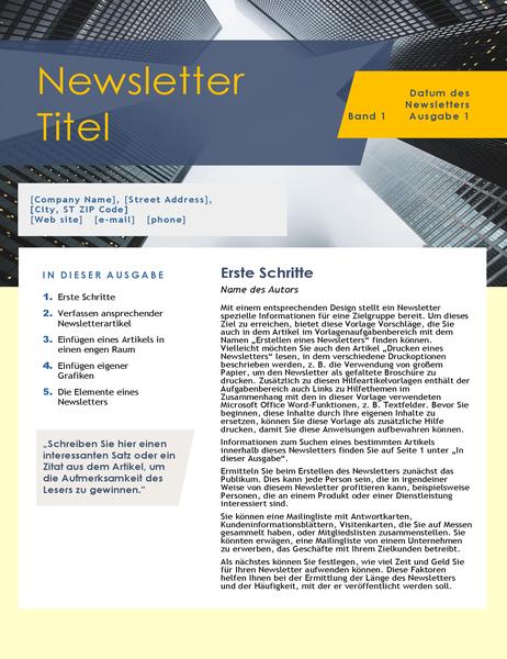 Newsletter Für Unternehmen 4 Seiten