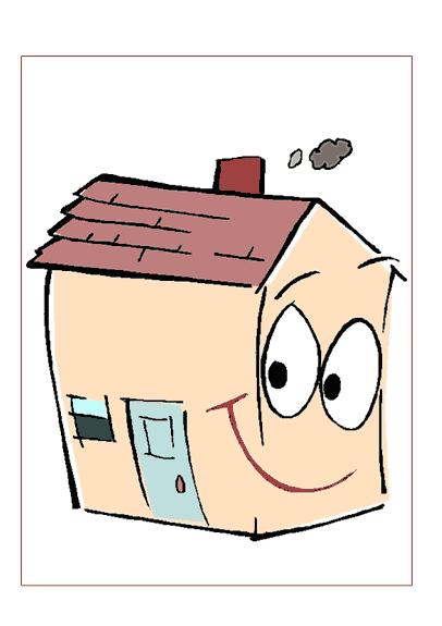 Glückwunschkarte zum neuen Haus