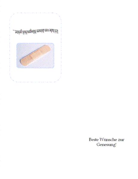 Genesungswunsch (mit Verband)