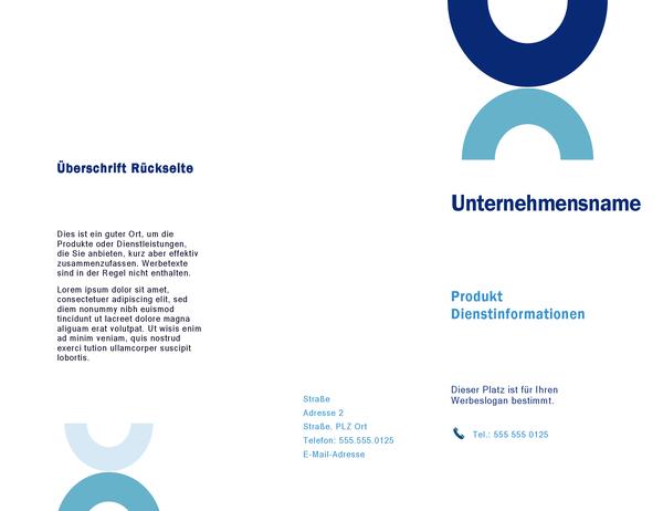 Broschüre (Bogen-Design)