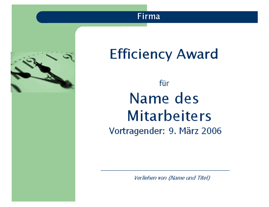 "Efficiency Award (Design ""Kapseln"")"