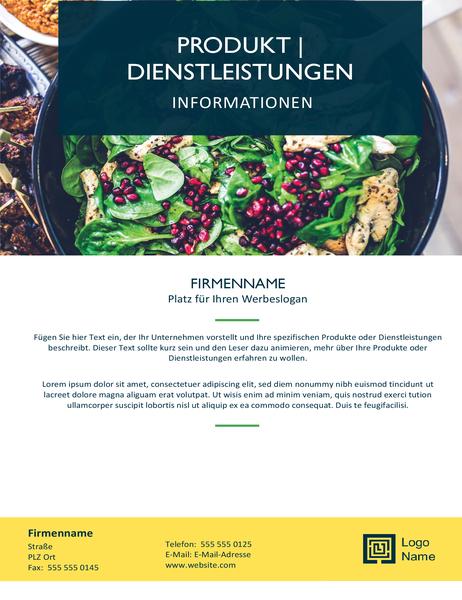 """Flyer (Design """"Jakobsmuscheln"""")"""