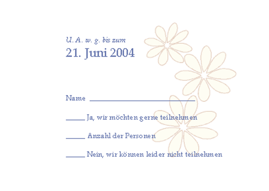 Antwortkarte für Hochzeitsgäste