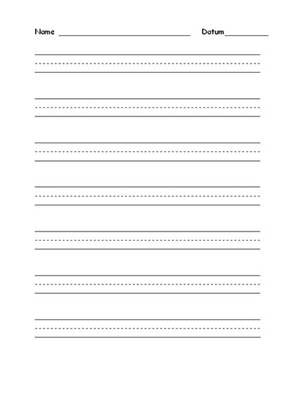 """Schreibübungspapier """"Zwischenstufe"""""""