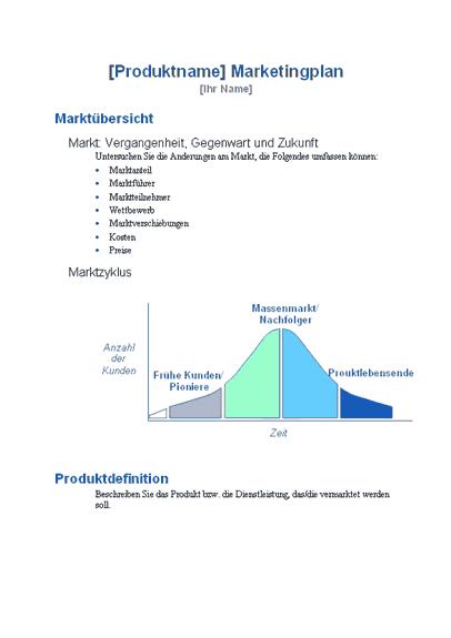Standard-Marketingplan