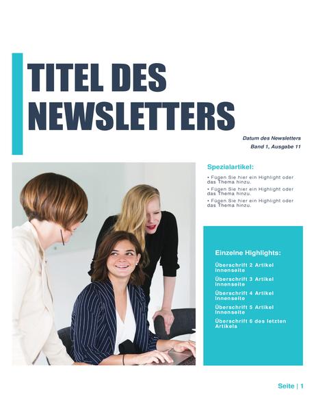 Newsletter (einfaches Design, 4-col., 6-pp.)