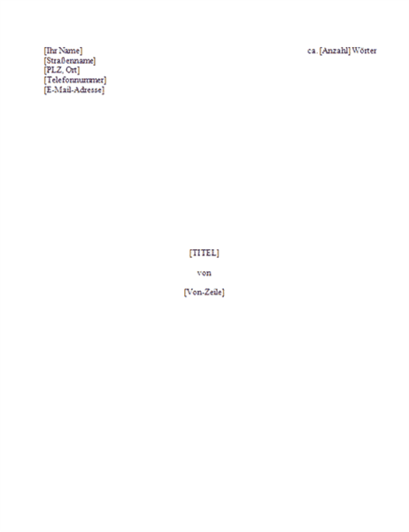 Manuskript - Buch