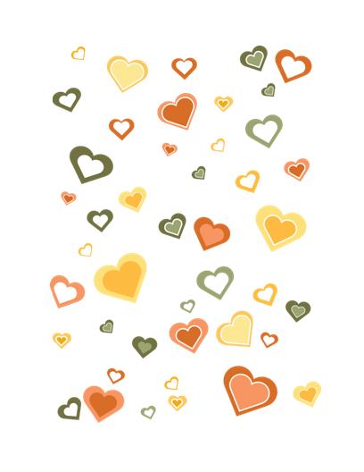 Karte mit Liebesgruß