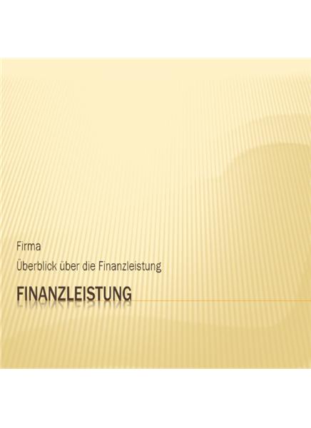 Präsentation zur Finanzleistung