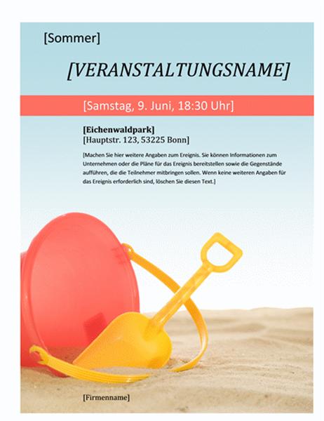 Handzettel für eine Sommerveranstaltung