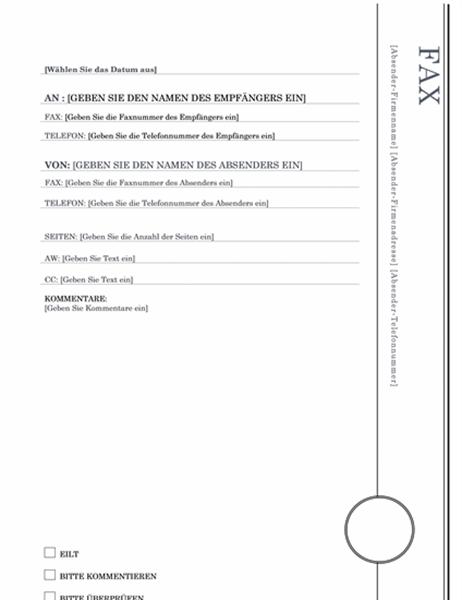 "Fax-Deckblatt (Design ""Nereus"")"
