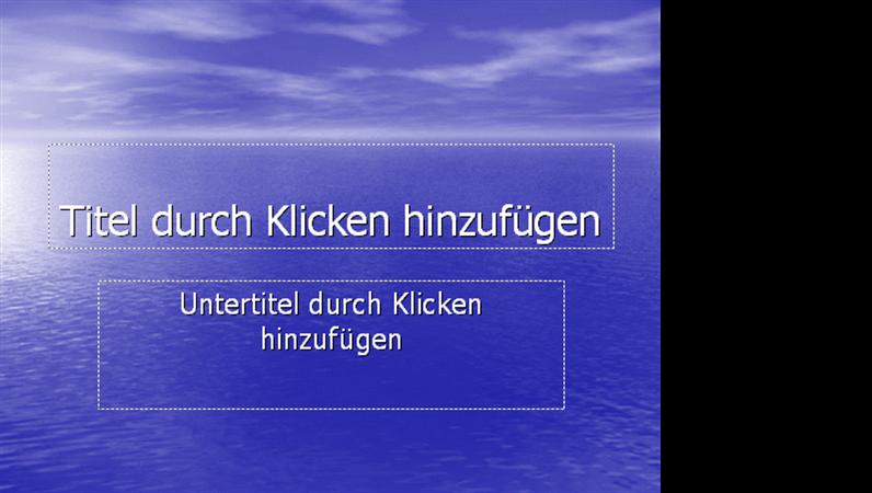 """Designvorlage """"Ozean"""""""