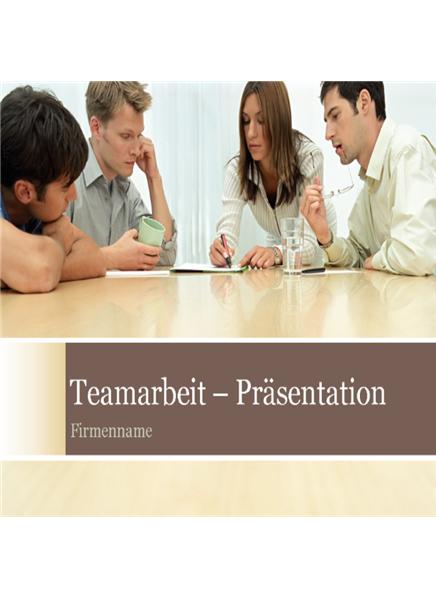 Teamarbeit – Präsentation
