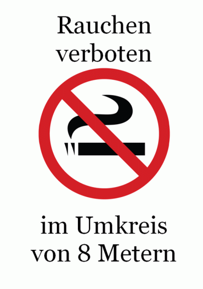 """Schild """"Rauchen verboten"""" (Farbe)"""