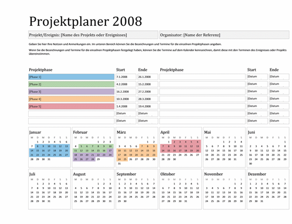 Projektplaner 2008 (Mo-So)