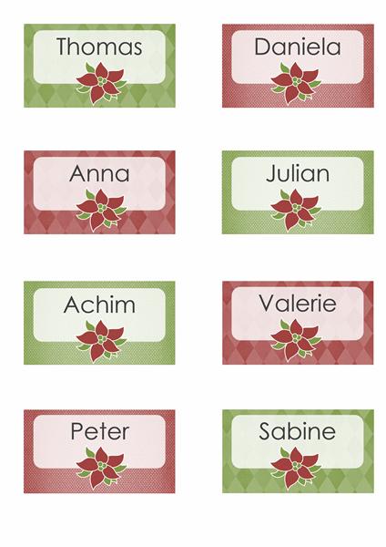 Platzkarten für Feiertage (passend für Avery 8371, 8376, 8377, 8811)