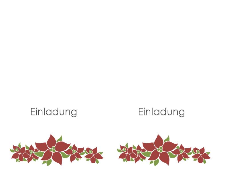 Einladung zu einer Feier (mit Weihnachtssternen)
