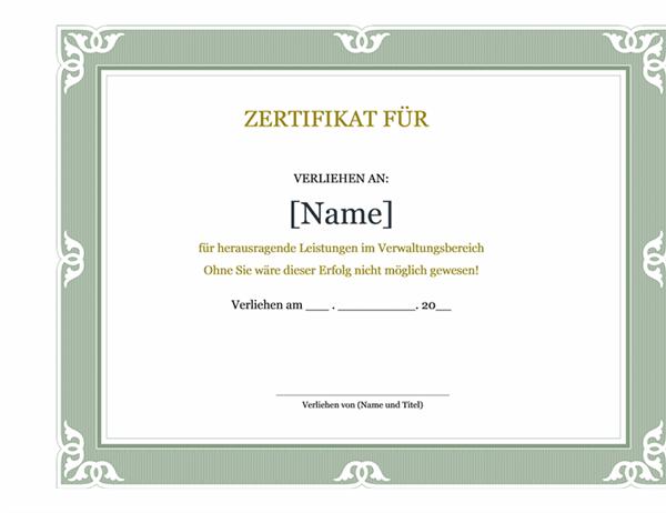 Auszeichnung für Verwaltungspersonal
