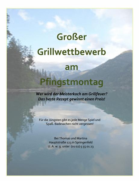Handzettel – Einladung zum Grillwettbewerb am Pfingstmontag