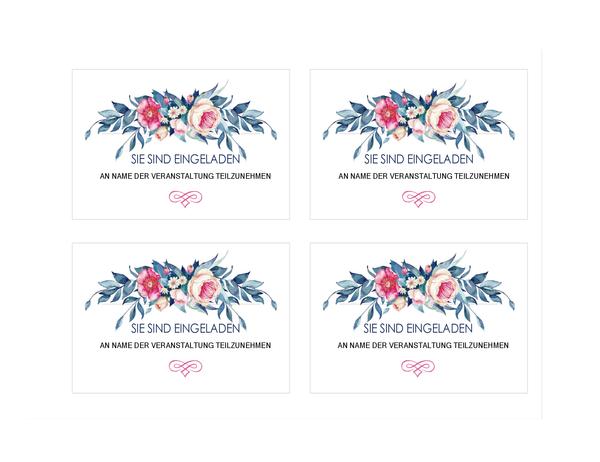Einladung zu einer Feier (Blumenmuster)