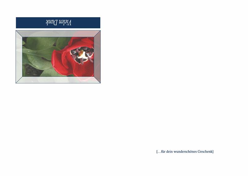 Dankeskarte (Blumendesign)