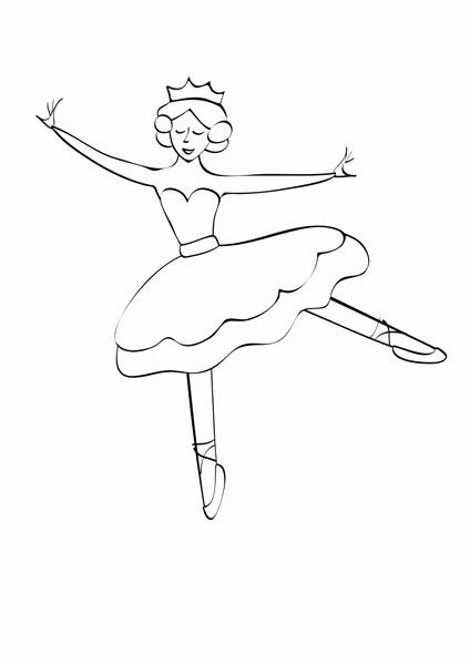 Blatt zum Ausmalen (Ballerina)