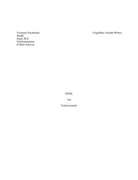 Manuskript für ein Buch
