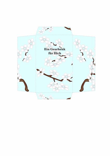 Geldumschlag (blaues Blumenmuster)