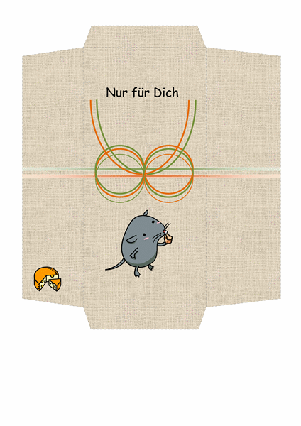 Geldumschlag (Design mit Maus und Käse)