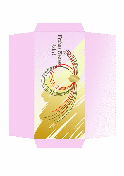 Geldumschlag (goldenes traditionelles Design)