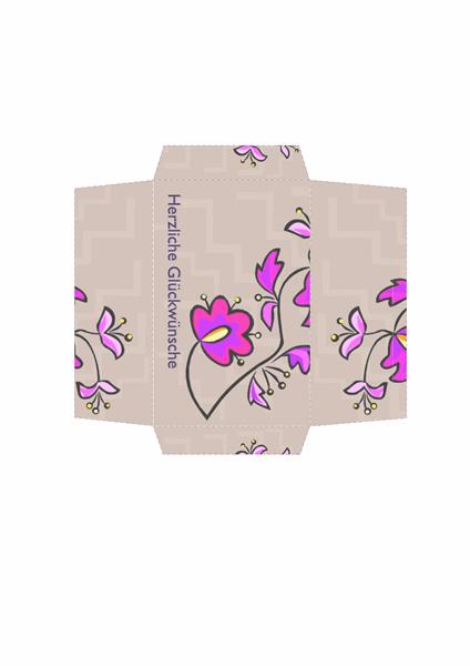 Geldumschlag (Blumenmuster)