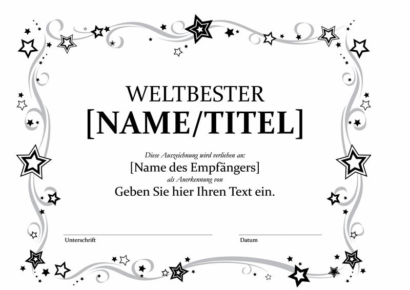 Auszeichnung als Weltbester (schwarz/weiß)
