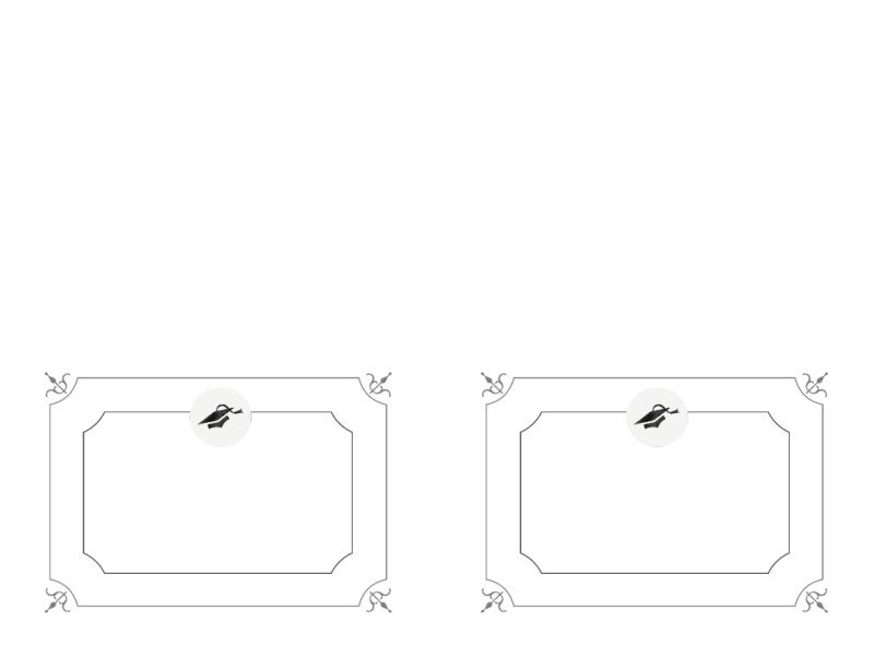 Danksagungskarte für Abschlussfeier (formelles Design, schwarzweiß)