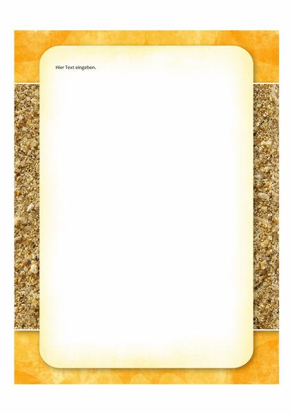 Briefpapier (Design mit Sonne und Sand)