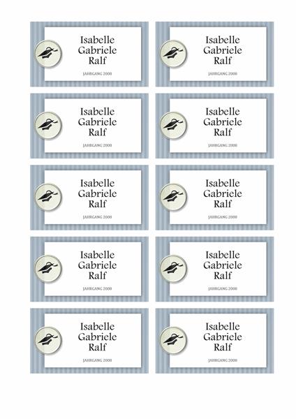 Namenskarten zum Abschluss (Strukturdesign)
