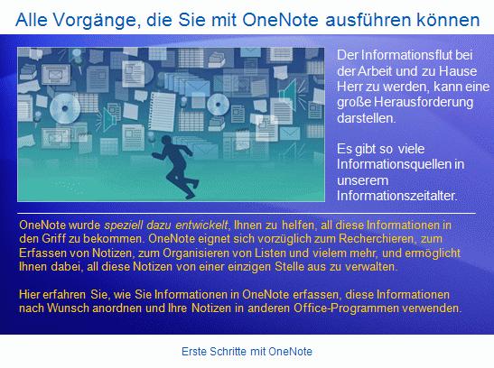Schulungspräsentation: OneNote2007 – Erste Schritte mit OneNote