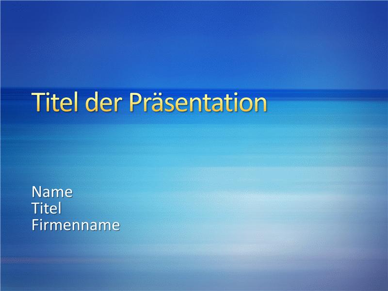 """Beispielpräsentationsfolien (Design """"Blaue Streifen"""")"""