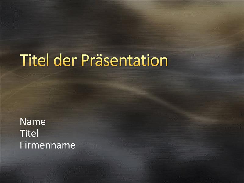 """Beispielpräsentationsfolien (Design """"Gebürstetes graues Metall mit Kurven"""")"""