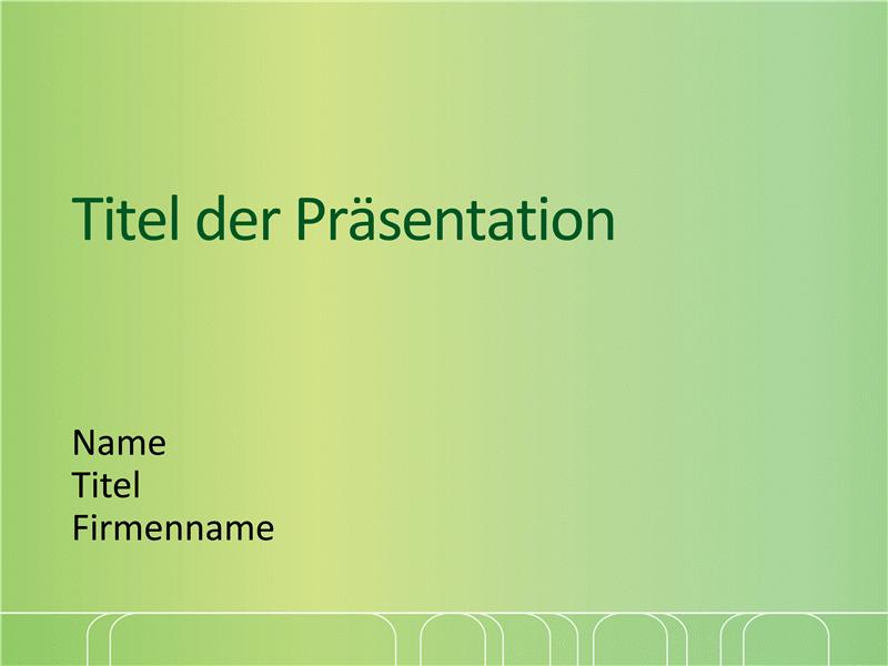 """Beispielpräsentationsfolien (Design """"Grün mit weißem Gitter"""")"""