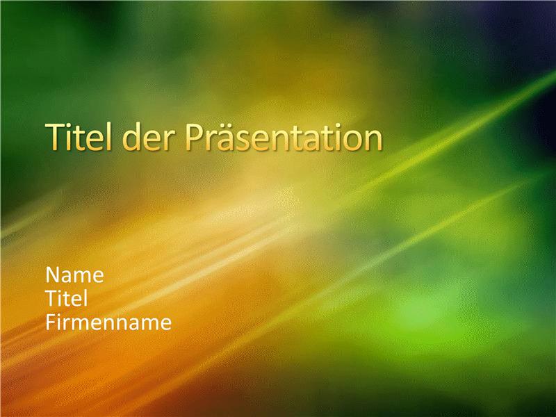 """Beispielpräsentationsfolien (Design """"Grün mit Goldtextur"""")"""